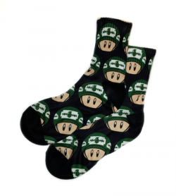 1up_Socks_Black