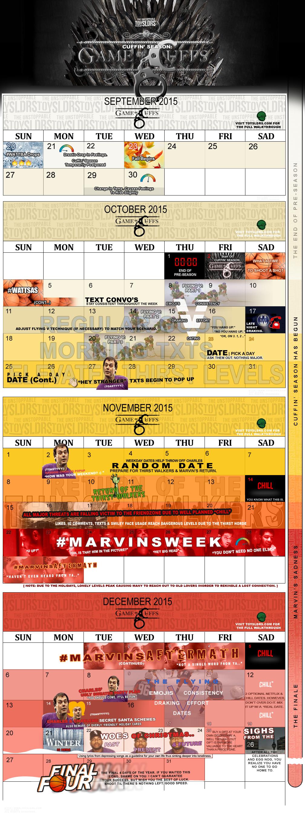 Cuffin Season Calendar 2015